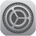 歯車アイコンの設定アプリ